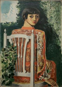 板倉鼎「白椅子による女」