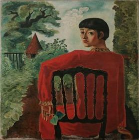 板倉鼎「黒椅子による女」