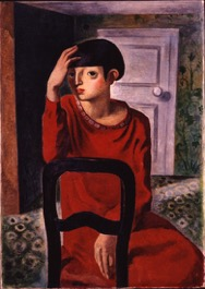 板倉鼎「赤衣の女」